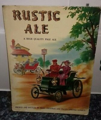 Rustic Ale, Mann Crossman Breweriana Advertisng Plaque. Veyeran Car.