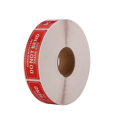 "1 Roll 1"" x 3"" DO NOT BEND HANDLE WITH CARE / Easy Peel ( 1000 Stickers)"