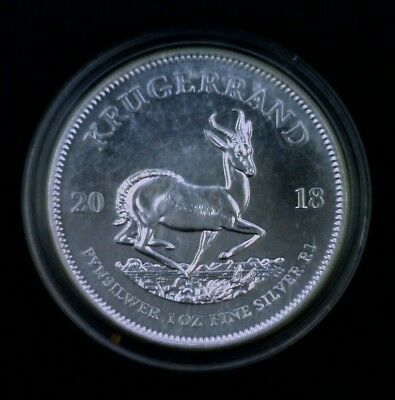 2018 South Africa Silver Krugerrand $1 0.999 Fine Silver 1 oz ASW