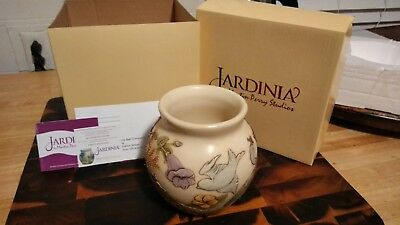 "Jardinia Morning Chorus Vase, Harmony Kingdom Pottery, 5"" tall, marble NIB"