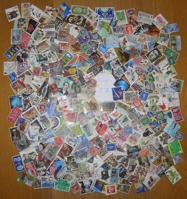 A Super Mixture Of 230 GB Used Stamps No Duplication's see 5 Photos