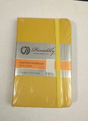 "Mini HARDCOVER Ruled YELLOW Note Book Piccadilly Notebook 192 Pages 5.5"" x 3.5"""