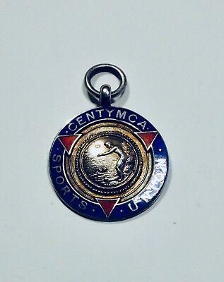 Sterling Silver Enamel Watch Fob
