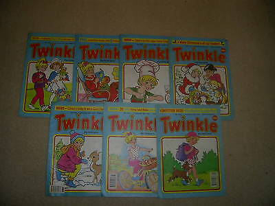 Twinkle, the paper comic for girls x 7  from 1992/93 like Judy and Bunty