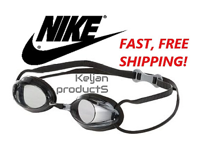 Nike Remora Black Competition Adult Swim Goggles W/ Tinted Lens Adjustable Strap