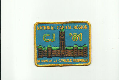 Scout Canada 5Th Canadian Jamboree 1981 National Capital Region Patch Badge Jam