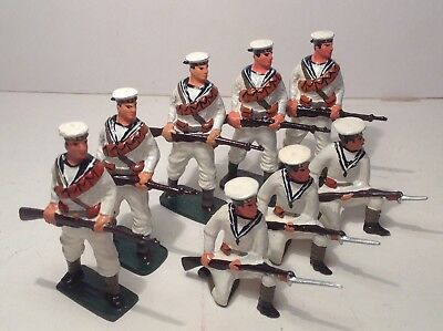 John Hill British Navy Whitejackets x 8.