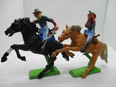 Vintage Britains Deetail Mounted Us 7Th Cavalry X 2
