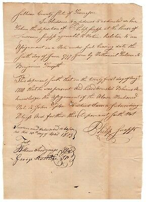 Key Document Signed by Battle of Kings Mountain Patriots - re Lawsuit from Tory