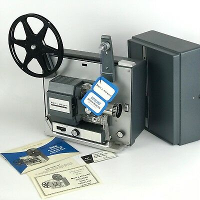 Bell&Howell Model 357A 357Z Autoload Super 8 Movie Projector w/Original Manual