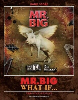 """Japanese Mr. Big """"What IF """" Band score Guitar Tab Book Japan With Tracking"""