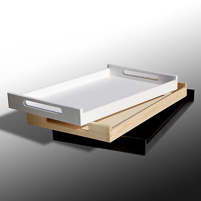 Wooden Kitchen Tray With Handles Kitchen Caddy Serving Tray 3 Colours