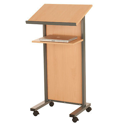 Wooden Panel Front Lectern