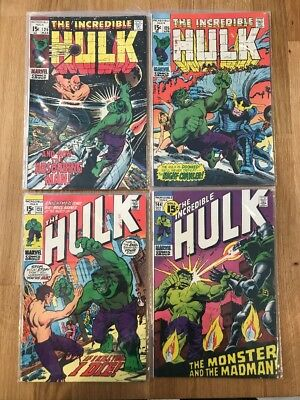 The Incredible Hulk Lot 71 - #125,126,130, And 144 - Mid To Higher Mid Grades