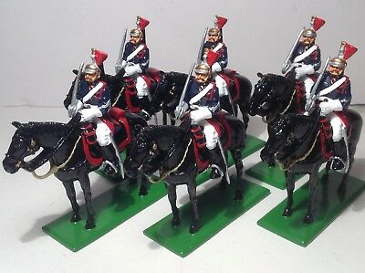 Britains modern metal French Republican Mounted Guard x 6.