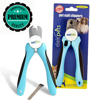Professional-Grade Dog Nail Clippers by DakPets with Protective Guard,...
