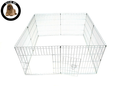 Ellie-Bo Easy-Up Puppy Rabbit Play Pen, 61 cm, Silver, 8-Piece