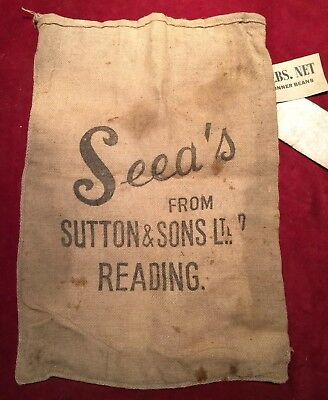 Sutton & Sons Ltd Reading Hessian Seed Sack With Labels