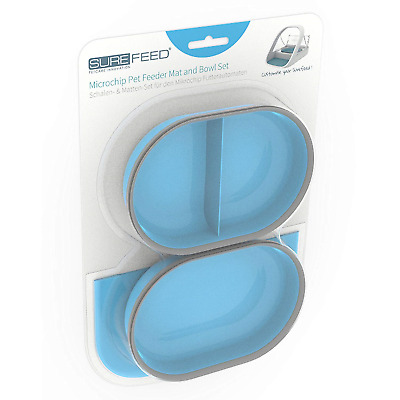 Sureflap SureFeed Microchip Pet Feeder Mat and Bowl Set, Blue