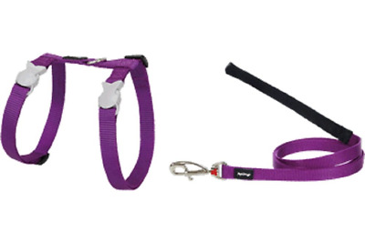 Red Dingo Fully Adjustable Cat Harness and Lead, 80 x 12 mm, Plain Purple