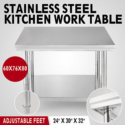 Kitchen Work Bench Worktop Stainless Steel Table Catering Table Top 760mm 2.5ft