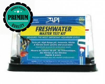 API Freshwater Master Test Kit, Kit includes laminated color card, 4 test...
