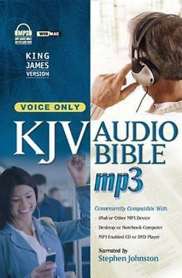 KJV MP3 Audio Bible-Voice Only Narrated by Stephen Johnson: CD DVD New