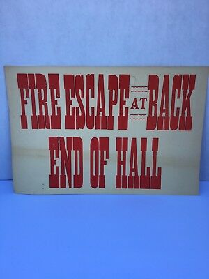 Ephemera FIRE ESCAPE Sign from Idaho Hotel in Silver City