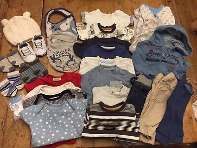 Baby Boy 0-3 Months Clothes Bundle (1)