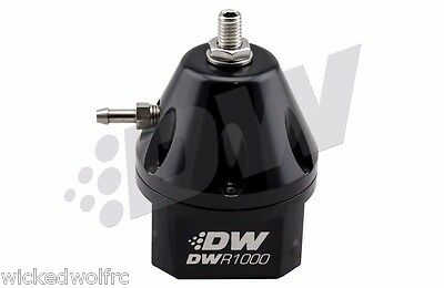 DeatschWerks Fuel Pressure Regulator 6-1000-FRB -6AN BLACK DWR1000