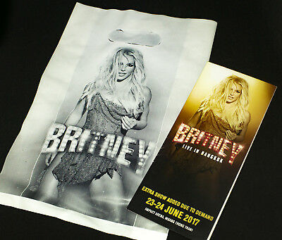 BRITNEY Live In Concert (Asia Tour 2017) Merchandise Bag + Promo Brochure Glory