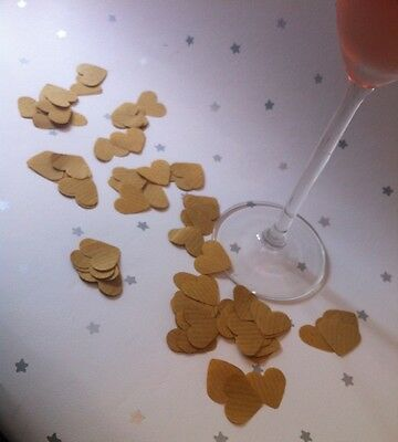 300 Brown Paper Heart Wedding Confetti Shabby Chic Party Table Decoration Crafts