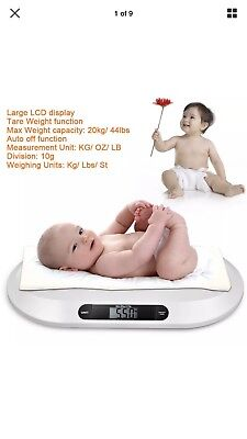 Smart Weigh Smart Tare Digital Body Weight Bathroom Scale with Baby 20kg/44lbs