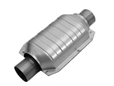 """Magnaflow 53034 Weld-On High-Flow Catalytic Converter Round 2/"""" In//Out w// O2 Port"""