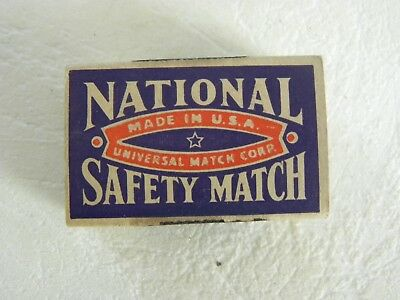 National Safety Match Wood Book Matches in box