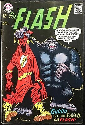 The Flash Comic (Dc,1967) Grodd Appearance #172 Silver Age ~