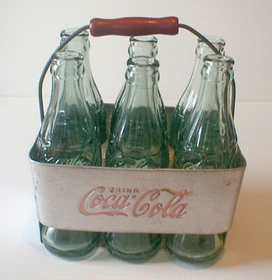 6-LOT of JELLICO, TENNESSEE COCA COLA BOTTLES +  1940s/50s BOTTLE CARRIER