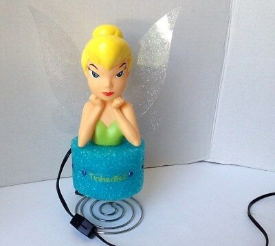 Disney TINKERBELL FAIRY Nightlight Spring-style Base - On/Off switch on the Cord