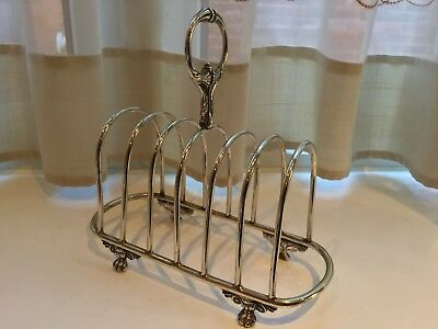 Lovely Antique Victorian Daniel And Arter Silver Plated Footed Toast Rack