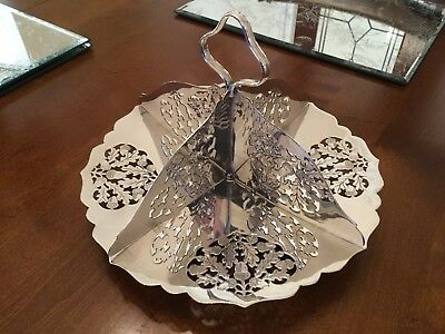 Superb Antique Charles Green Silver Plated Biscuit/ Sandwich Tray