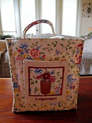 Longaberger Spring Floral Tote With Plastic Liner - Great Gift Idea