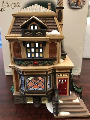 "Dept 56 ""Fred Holiwell's House"" Dickens Village A Christmas Carol Series #56.584"