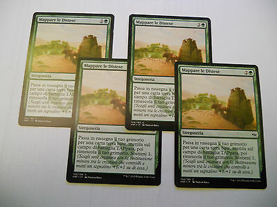 4x MTG Mappare le Distese-Map the Wastes Magic EDH FRF fate Reforged ITA x4