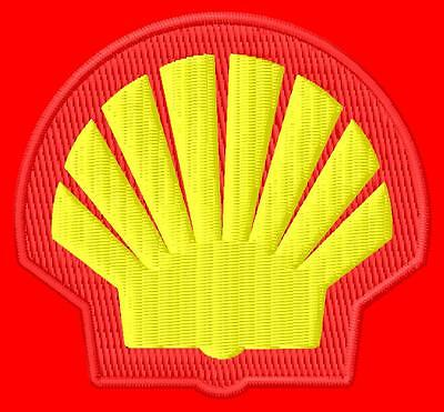 Shell Parche bordado Thermo-Adhesiv iron-on patch