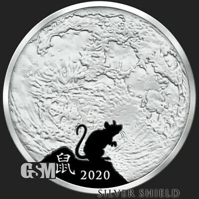 2018 1oz silver round Zuckerborg Proof MiniMintage Silver Shield IN-STOCK