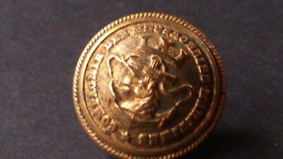 """A Single Vintage French Brass """"Compagnie Des Messageries Maritime"""" Button"""