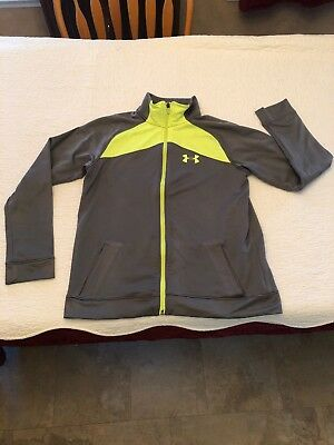 Boys Under Armour Loose Full Zipper Jacket Size Youth Xl