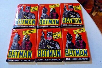 1989 Batman Trading Card Packs (27) Twenty Seven Packs Series 2 Sealed