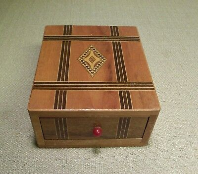 "Vintage Wood Musical Box ""made In Occupied Japan"" 1940's/1950's"