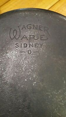 "Vintage ""Old Logo"" Wagner Ware #8 Cast Iron Pan"